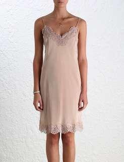 3b205ae23f91 Zimmermann Silk Lace Trim Slip Dress in Natural - Size 0/AU 6-8