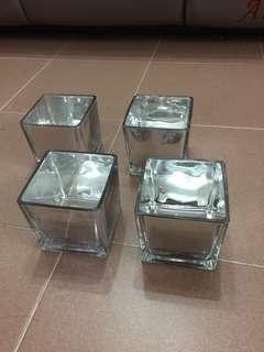 4吋方形玻璃花瓶8個!婚後物資