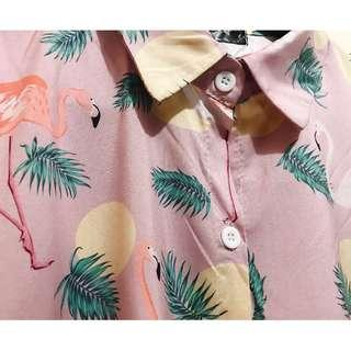 Pink Summer Long Sleeve Shirt