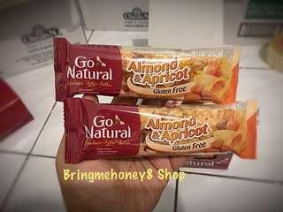 Almond & Apricot Snack Bar Go Natural Gluten Free