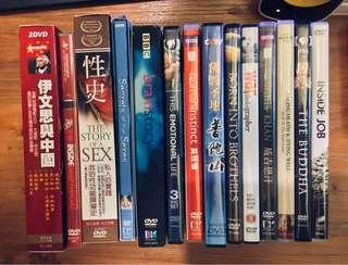 紀錄片DVD(每套$40)
