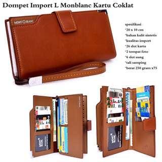 Grosir Dompet Kartu Pria Brand L Monblanc Import - Brown