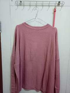 Pink Sweater oversized