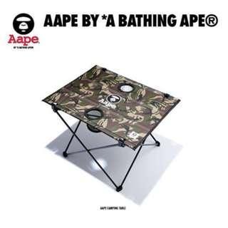 AAPE BY A BATHING APE Camping Table 露營枱 戶外 portable 流動可摺