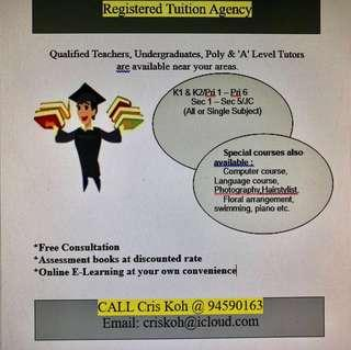 Tuition Provided for all range of courses needed
