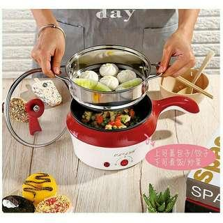 Electric non-stick marble coating frying pan rice multi mini rice cooker