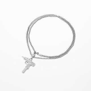 🚚 Uzi silver chain necklace