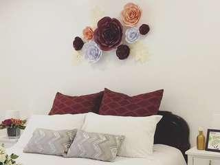 Paper Flowers Room Decorations
