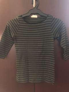 Authentic Zara 3/4 striped short / top
