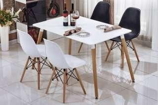 Dining table and 4 eames chairs