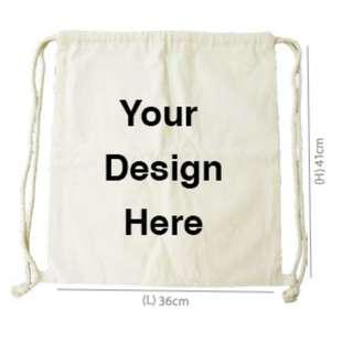 Canvas Drawstring Backpack - Design & Print