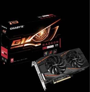🚚 免運 顯示卡 超頻版 大容量記憶體 技嘉 RX480 G1 gaming 8G