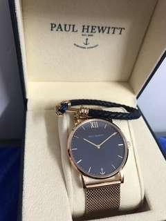 新款Paul Hewitt 手錶+手額(未拆牌)