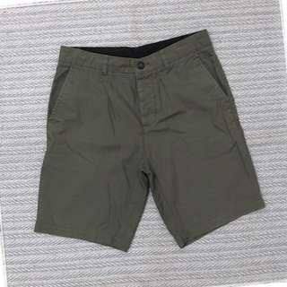 H&M專櫃DIVIDED 卡其橄欖綠 男款純棉清爽輕盈帆布休閒褲