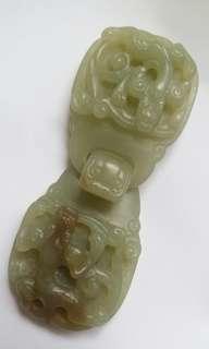 Hetian jade buckle