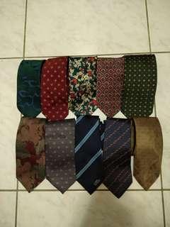 🚚 品牌領帶10條