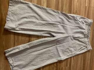 BRAND NEW White Stripe Culottes Pants