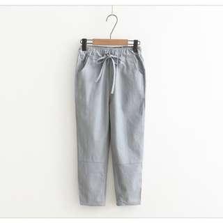 Slim Elastic Waist Pant