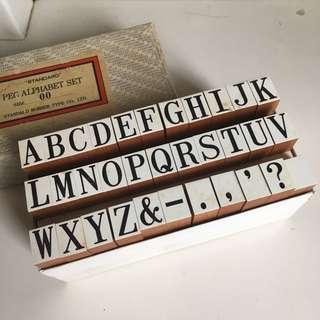 英文字母印章 Standard Peg Alphabet Set (Size 00)