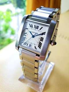 Cartier Tank Francaise 2302 Automatic Silver Dial Ladies Steel