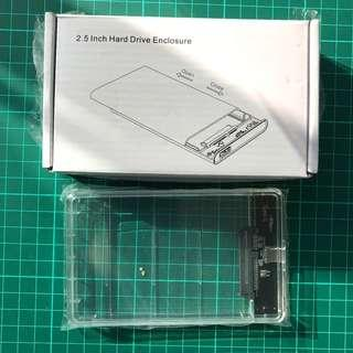 Brand New Transparent USB3.1 Type C to Sata 3.0 HDD Case 2.5inch Hard Drive Enclosure