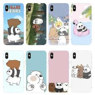 PO: iphone/oppo/samsung we bare bears phone cover
