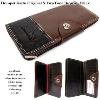 NEW Dompet Kartu Original Premium TwoTone Brown-Black