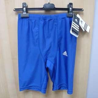全新 Adidas 彩藍色運動打底緊身褲 日本版