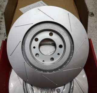 Mazda RX8 front slotted rotor (sport version)