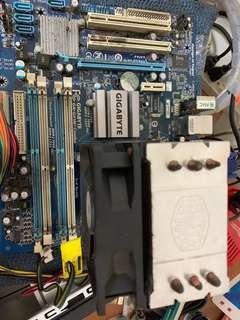 送濾掛咖啡 技嘉 G41M COMBO INTEL E3300 處理器 COOLER MASTER 風扇 DDR3 775 主機板 非 華碩