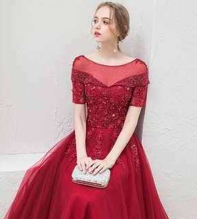 🚚 红色敬酒服, Red Wedding gown (Evening)