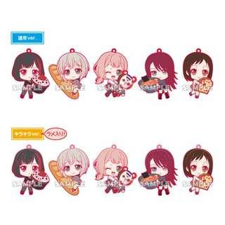(Ordered) BanG Dream! Girls Band Party! Afterglow Mugyutto Rubber Strap