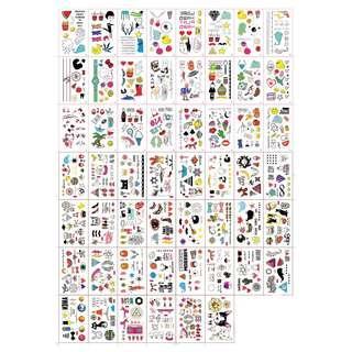 54PCS Tattoo Stickers - All 54 pcs different designs