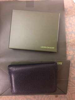 Authentic Longchamp leather card case/mini wallet