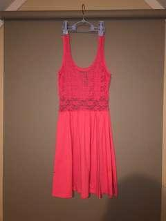 Once used, lace back dress
