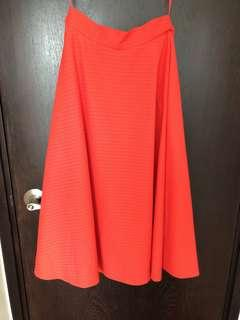 Uniqlo skirt in red/orange