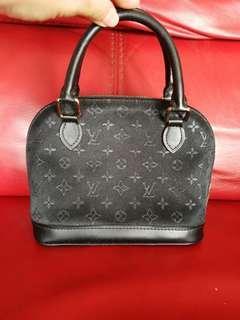 Vintage Louis Vuitton Satin Mini Alma black