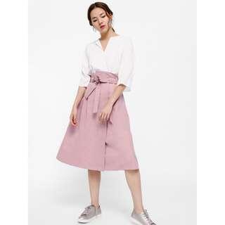Love Bonito Maudina Sash Foldover Paperbag Midi Skirt
