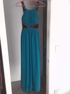 Turquoise formal long ball dress