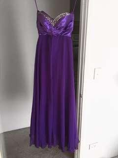 Purple formal ball dress