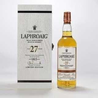Laphroaig 27 year old
