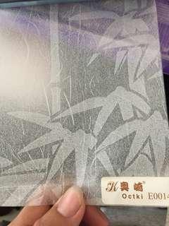 Sticker kaca import dari cina ..