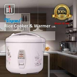 TOYOMI Rice Cooker & Warmer 1.8L - RC 948