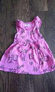 🚚 FoxKids pink dress