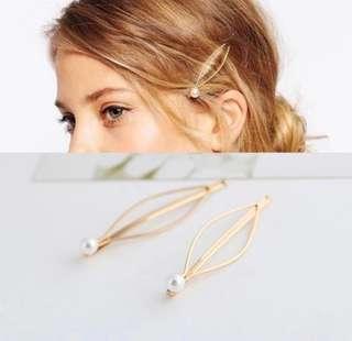 READY STOCK KOREAN PEARL hair clips / pins