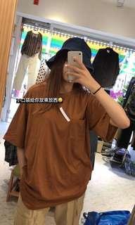 🚚 2012 Otoshi 土黃 胸前 多口袋 短袖 T恤