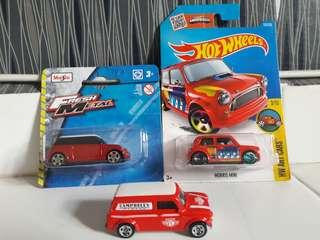 Maisto & Hot Wheels Mini Cooper (1 Lot)