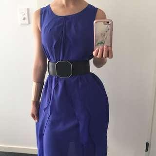 Purple Ruffle Dress/ Long Top