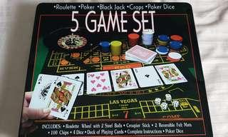 🚚 5 in 1 Casino Game Set
