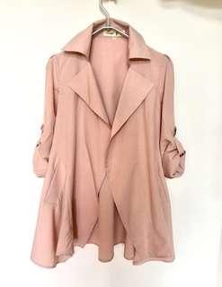 包順豐!! 全新!! 粉紅春季外套 Romantic dusty pink spring jacket #gradin裙
